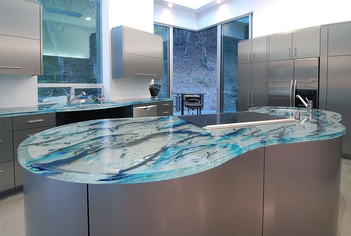 Expensive Blue Marble Countertop Oscarsplace Furniture Ideas In 2020 Unique Kitchen Countertops Glass Kitchen Countertops Glass Countertops