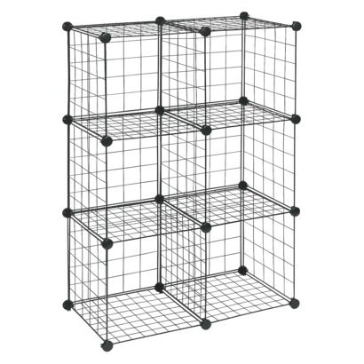 Closetmaid 6 Cube Wire Organizer Black Use These To Build Any Size Bunny Condo Use Zip Ties To Connect Cube Storage Cube Organizer Storage