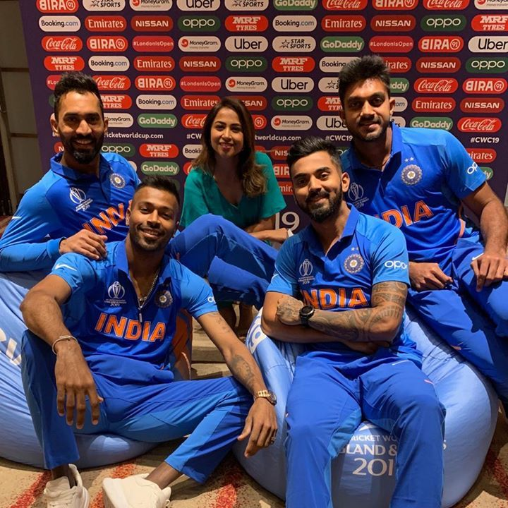 Team India players during the 2019 World Cup photoshoot!
