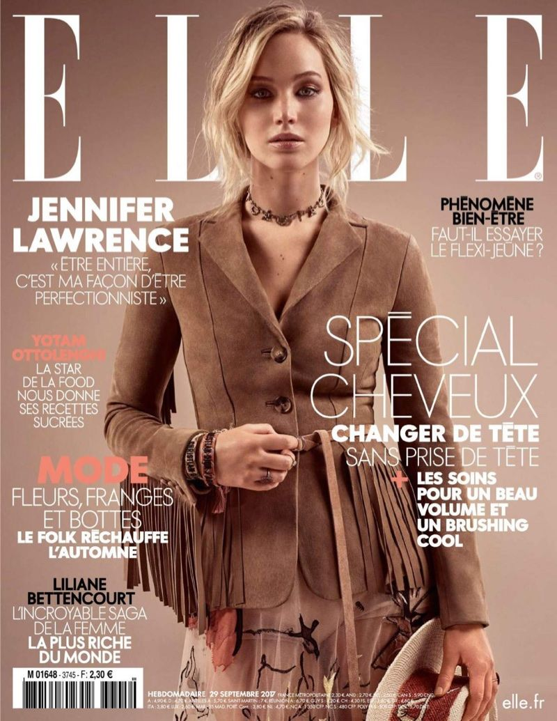 Jennifer Lawrence Looks Western Glam in Dior for ELLE France | ELLE ...