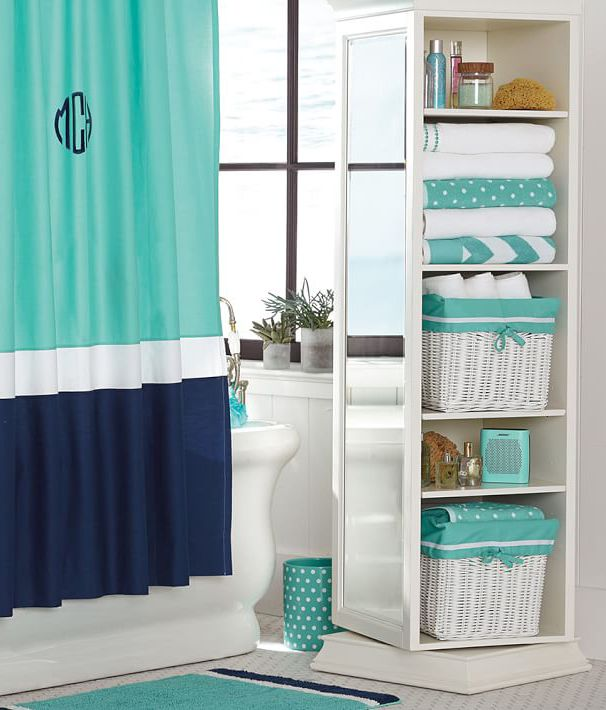 Cool blocking is super cool we are loving this bathroom for Teen girl bathroom ideas