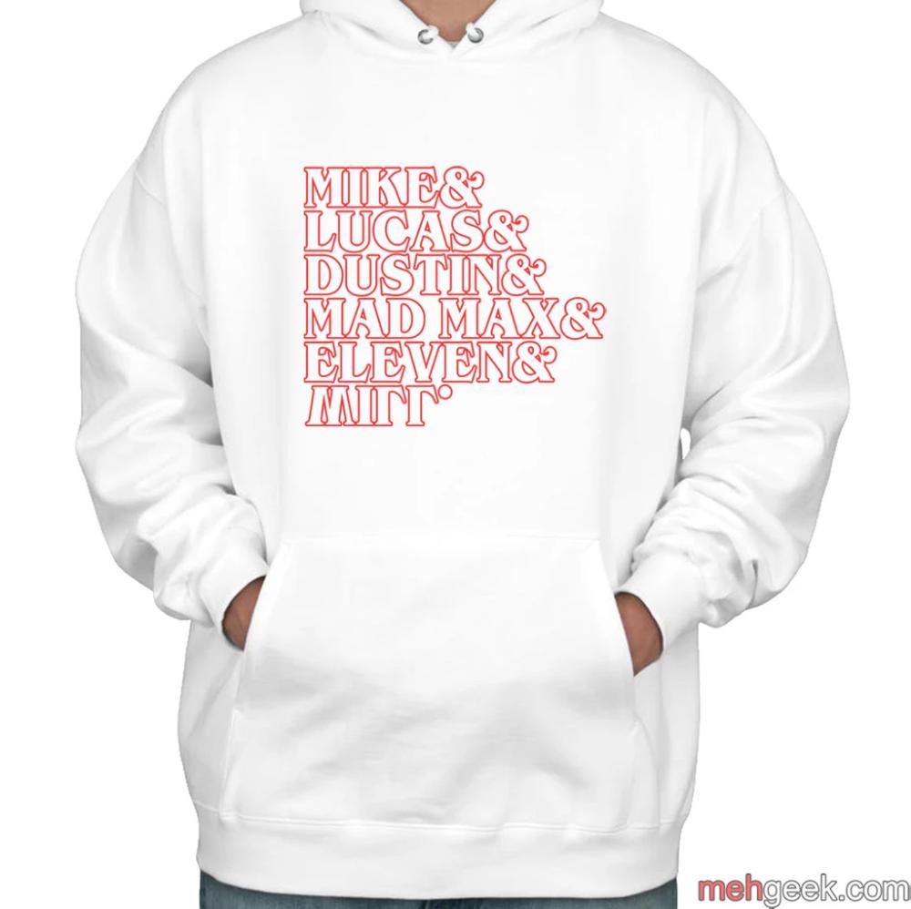 Stranger Things Summer Squad Outline Unisex Pullover Hoodie Pullover Hoodie Pullover Hoodies [ 998 x 1000 Pixel ]