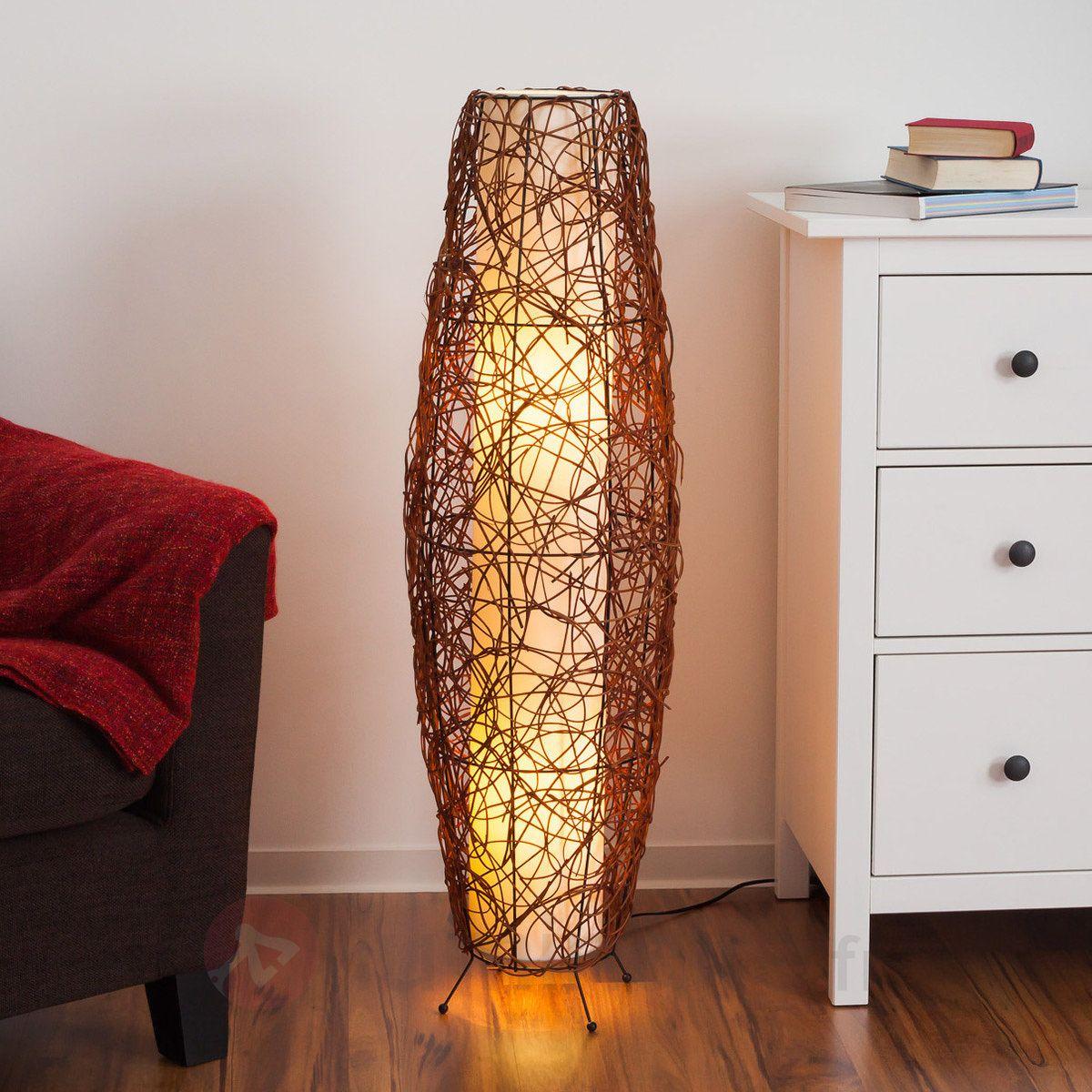 lampe de sol medine en rotin lampadaires pinterest. Black Bedroom Furniture Sets. Home Design Ideas