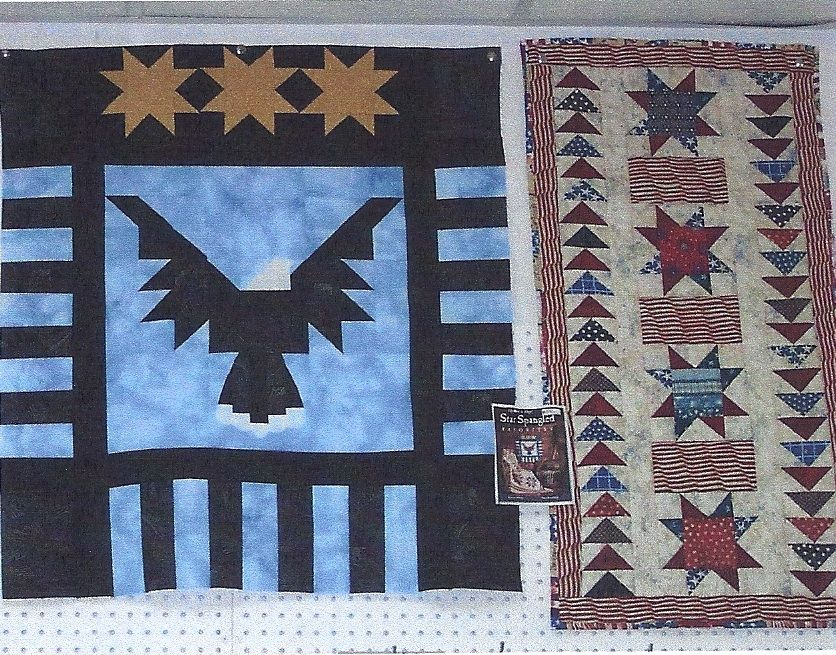 Bald Eagle and Stars and Bars table runner. (Classes I taught at ... : local quilt shops - Adamdwight.com
