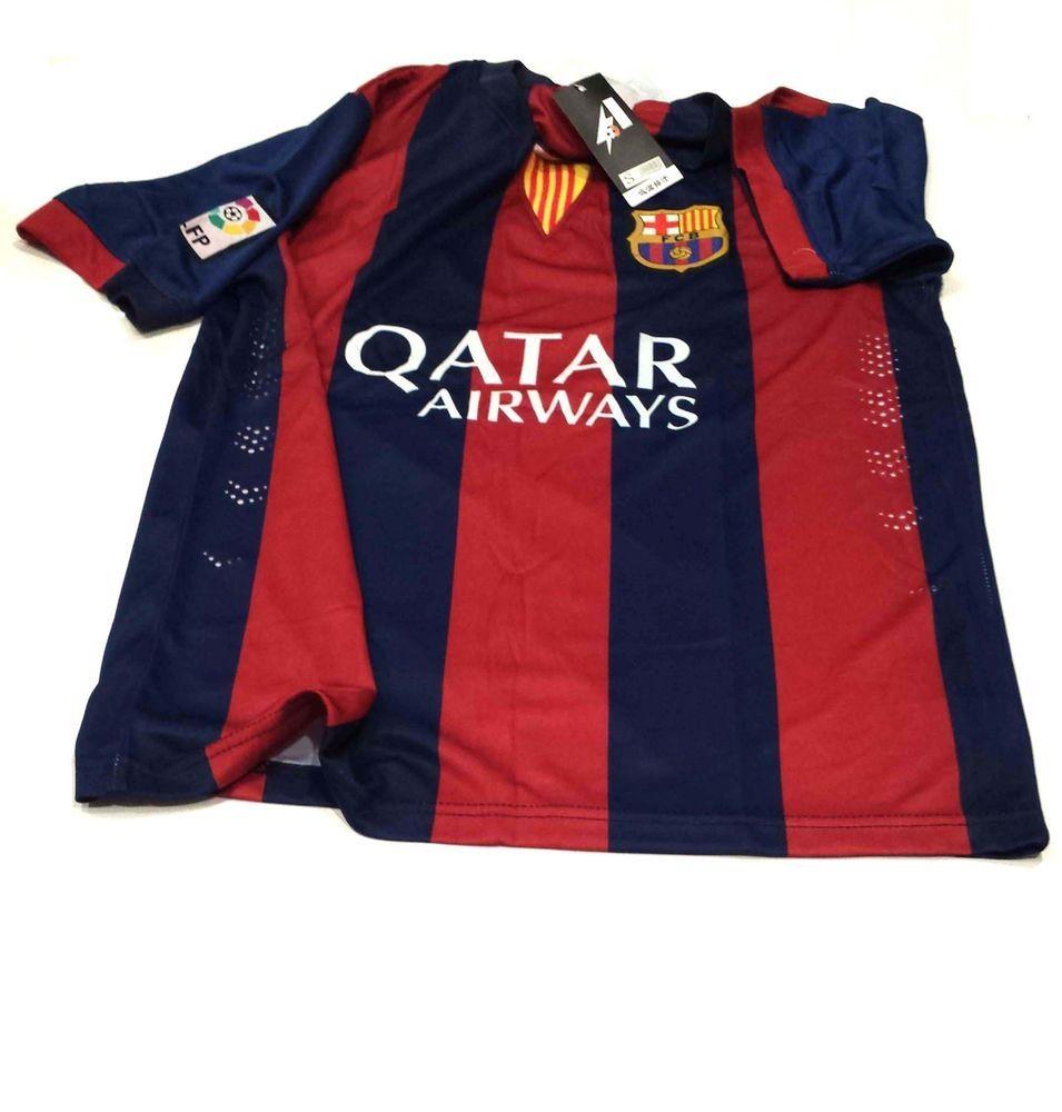 3c6ad7d11 FCB Barcelona Qatar Airways t-shirts + Shorts set FCB Sports with Logo S   RJCSPORTS