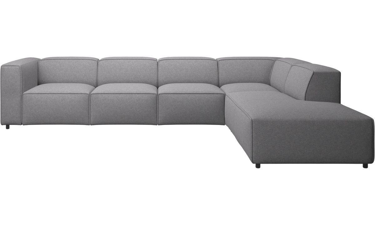 Lounge Sofas Carmo Ecksofa Mit Loungemodul Grau Stoff