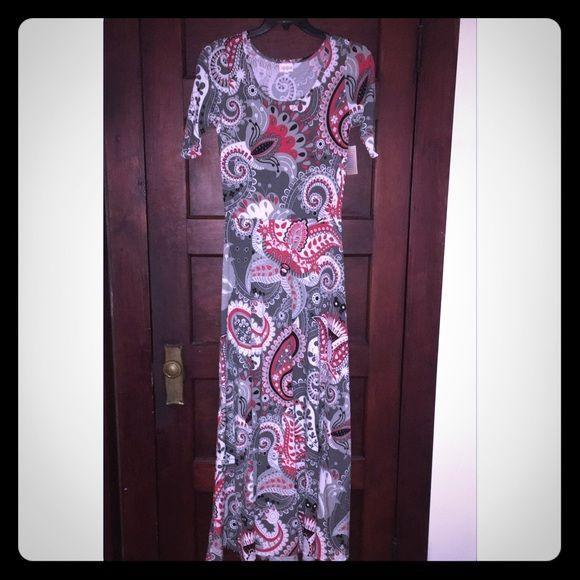 Lularoe maxi dress ana rose