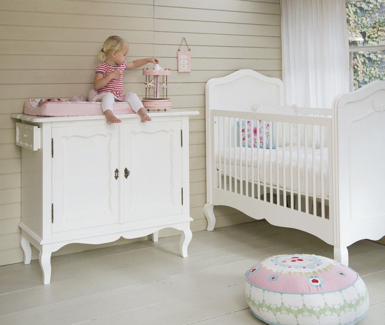 Designer nursery furniture french girls cot designer for Baby furniture