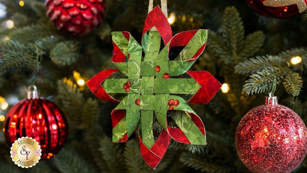 How To Make A No Sew Scandinavian Star Ornament Shabby Fabrics Tutorial Scandinavian Christmas Ornaments Fabric Christmas Ornaments Christmas Ornaments