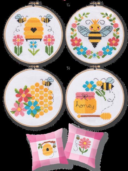 Photo of Modern Cross Stitch – Bees & Honey Cross Stitch Pattern