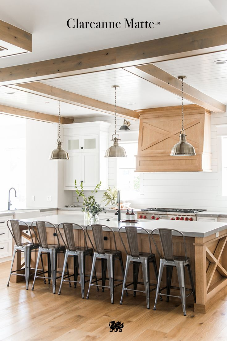 Take A Modern Farmhouse Kitchen To Another Level Of Beauty With Clareanne Matte A Breathtaking Gr Modern Farmhouse Kitchens Farmhouse Kitchen Grey Countertops