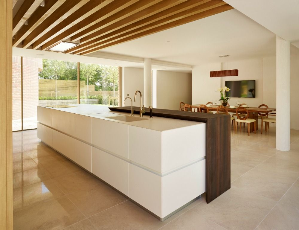 The Lauren Nicholas kitchen sits beneath decorative oak beams ...
