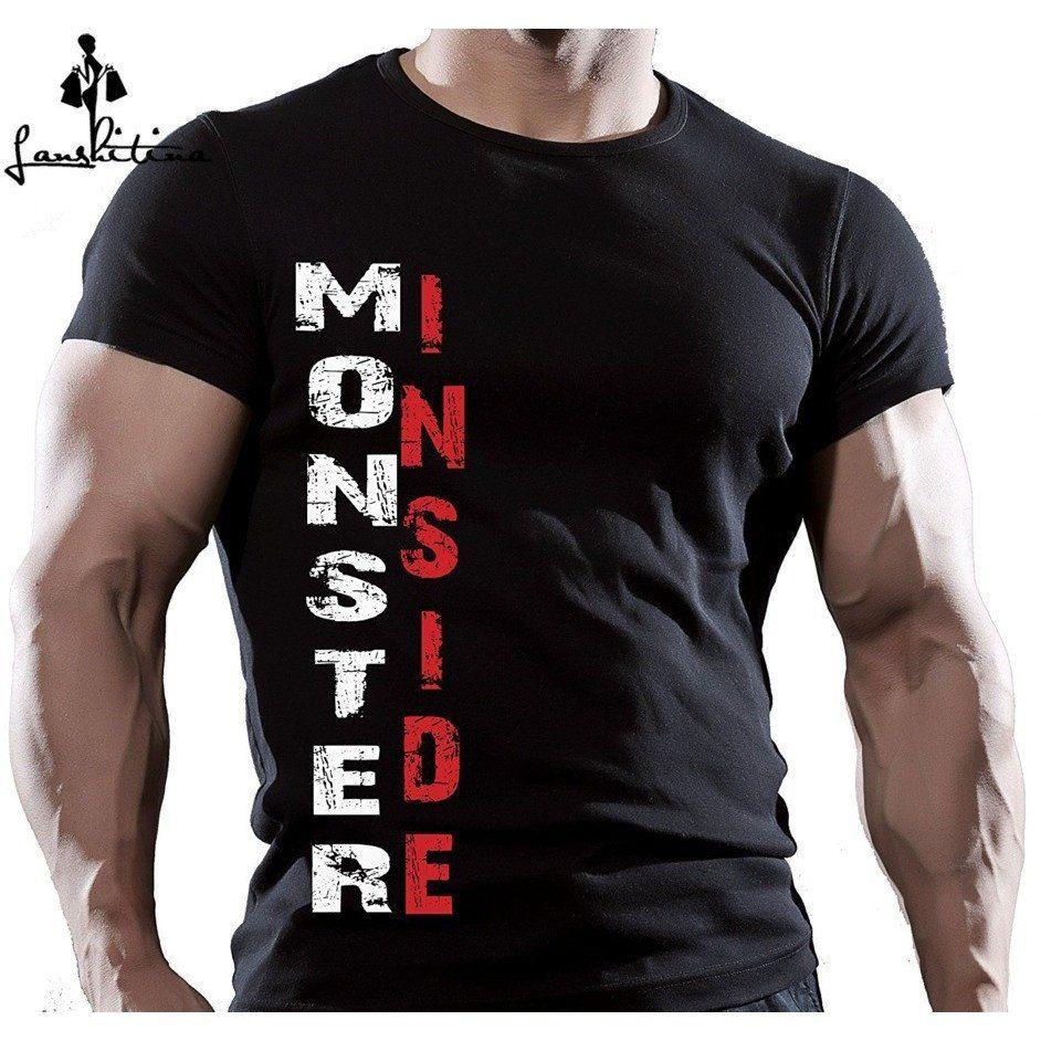NEW STYLE MONSTER INSIDE MENS BODYBUILDING MOTIVATION TShirt