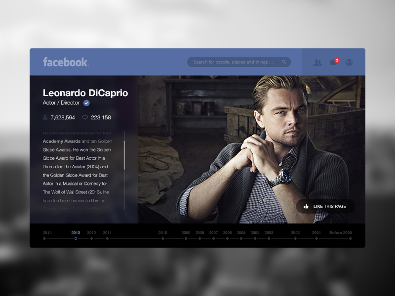 So lately everyone is redesigning everything, especially Facebook. Here is my try at doing the same.