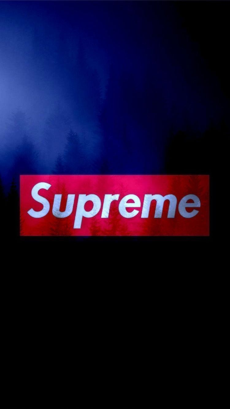 Supreme Seni Gelap Wallpaper Ponsel Seni