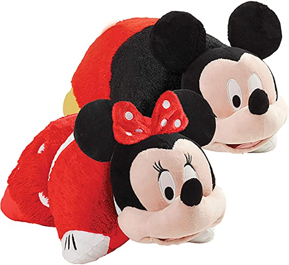 "Pillow Pets Disney Mickey & Rock The Dot Minnie, Set of Two 16"" Plush Stuffed Animal Toys, Multicolor"