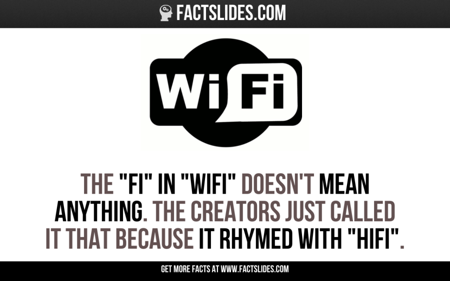 "The ""Fi"" in ""WiFi"" doesn't mean anything. The creators just called it that because it rhymed with ""HiFi""."