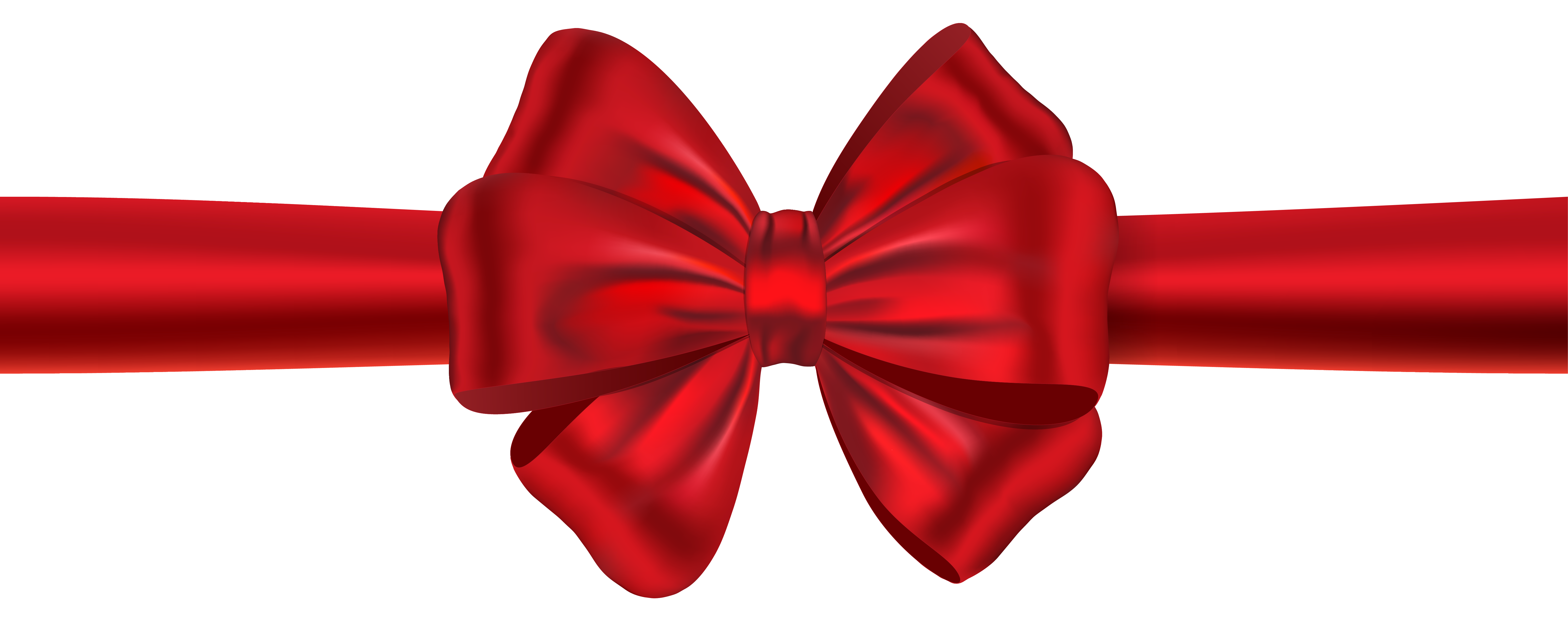 red ribbon with bow png clipart