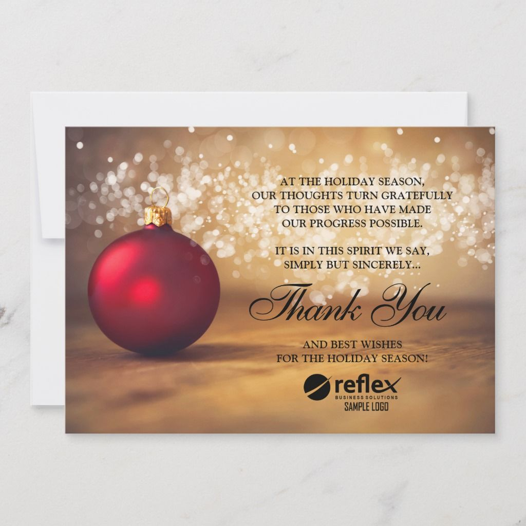 Business Holiday Cards Corporate Thank You Card Business Holiday Cards Company Christmas Cards Business Christmas Cards