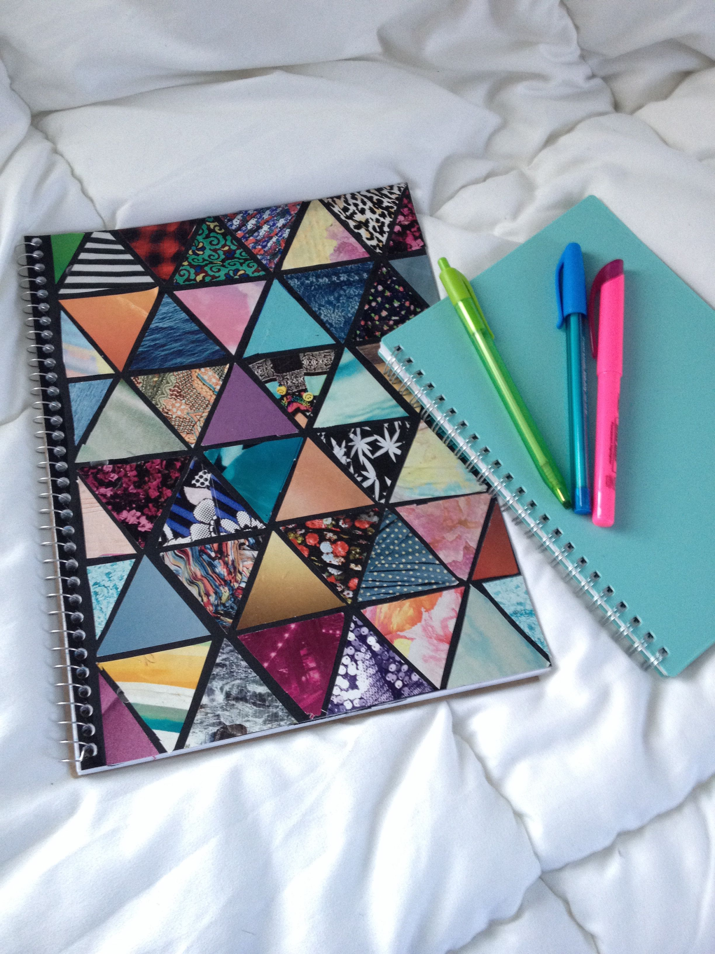 Diy Spiral Notebook♡ Diy school supplies ♡ Tumblr notebook ...