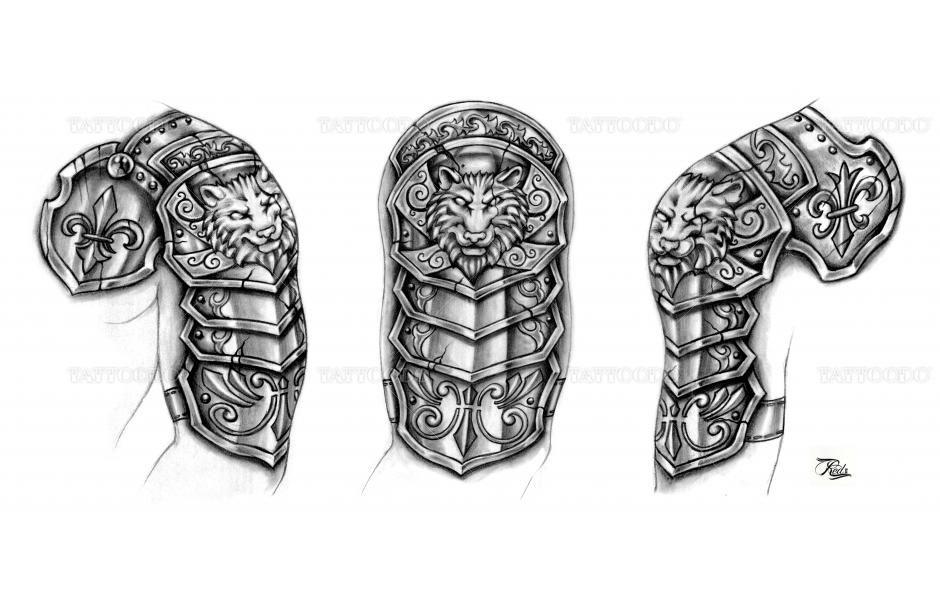 5fceecfa5 Medieval Armor Tattoos | Medieval Armor Tattoos Winning design for