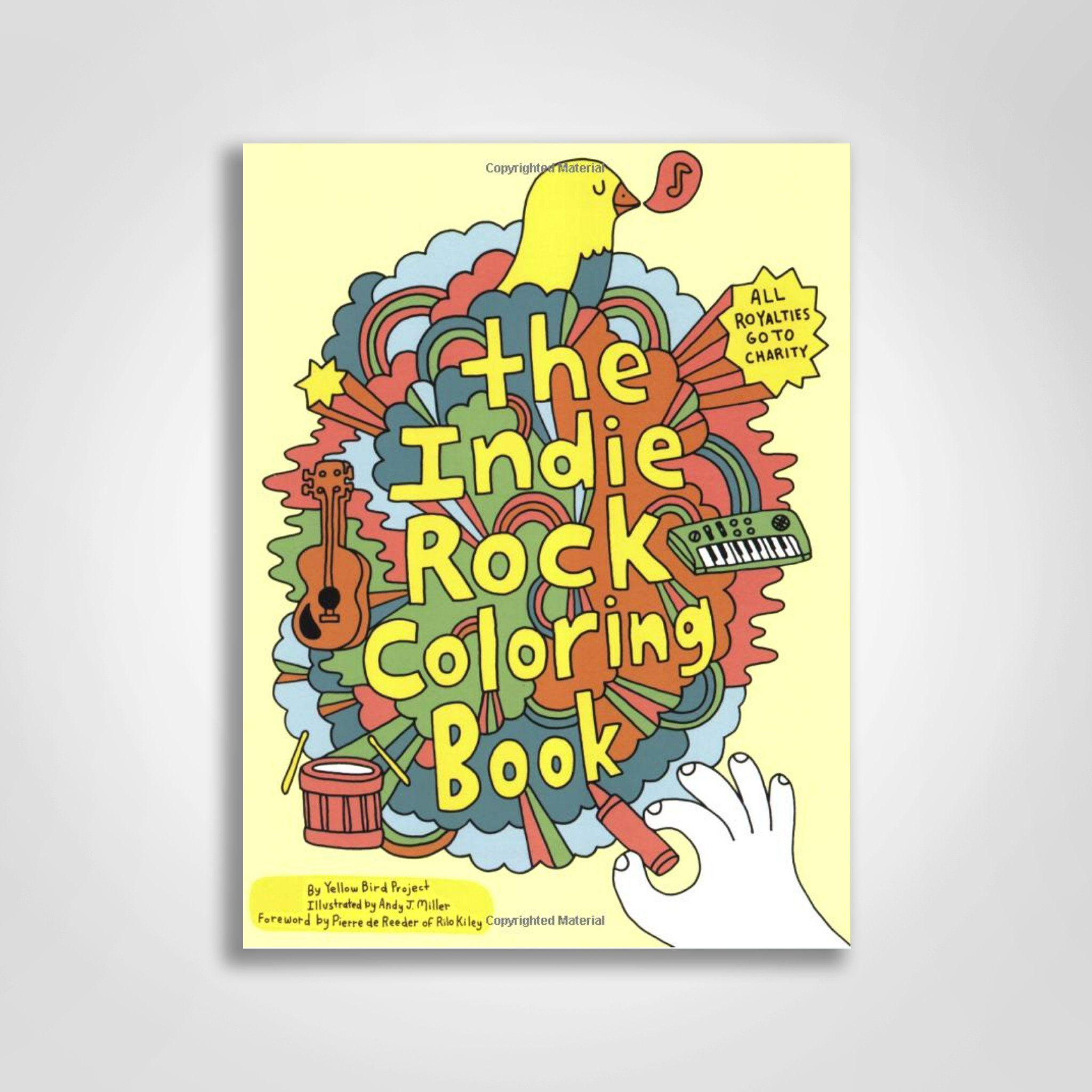 Cool As Hell Indie Rock Coloring Book