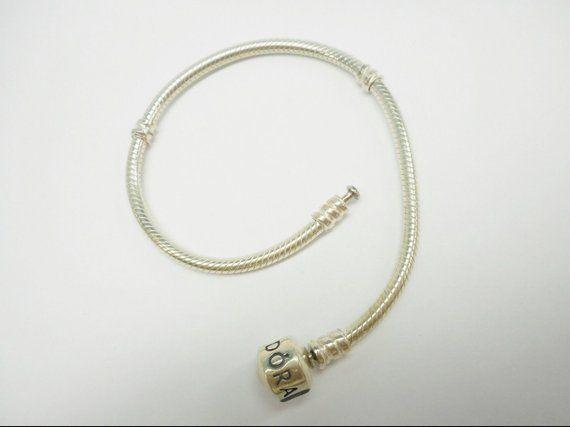 de5657d0595 Genuine PANDORA Sterling Silver Barrel Clasp European Charm Bracelet ...