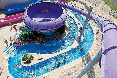 woaahh...I went on something like this last week but it didn't come out into the lazy river thing like this one does!