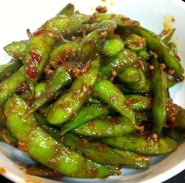 Chili Garlic Edamame With Images Edamame Recipes Edamame