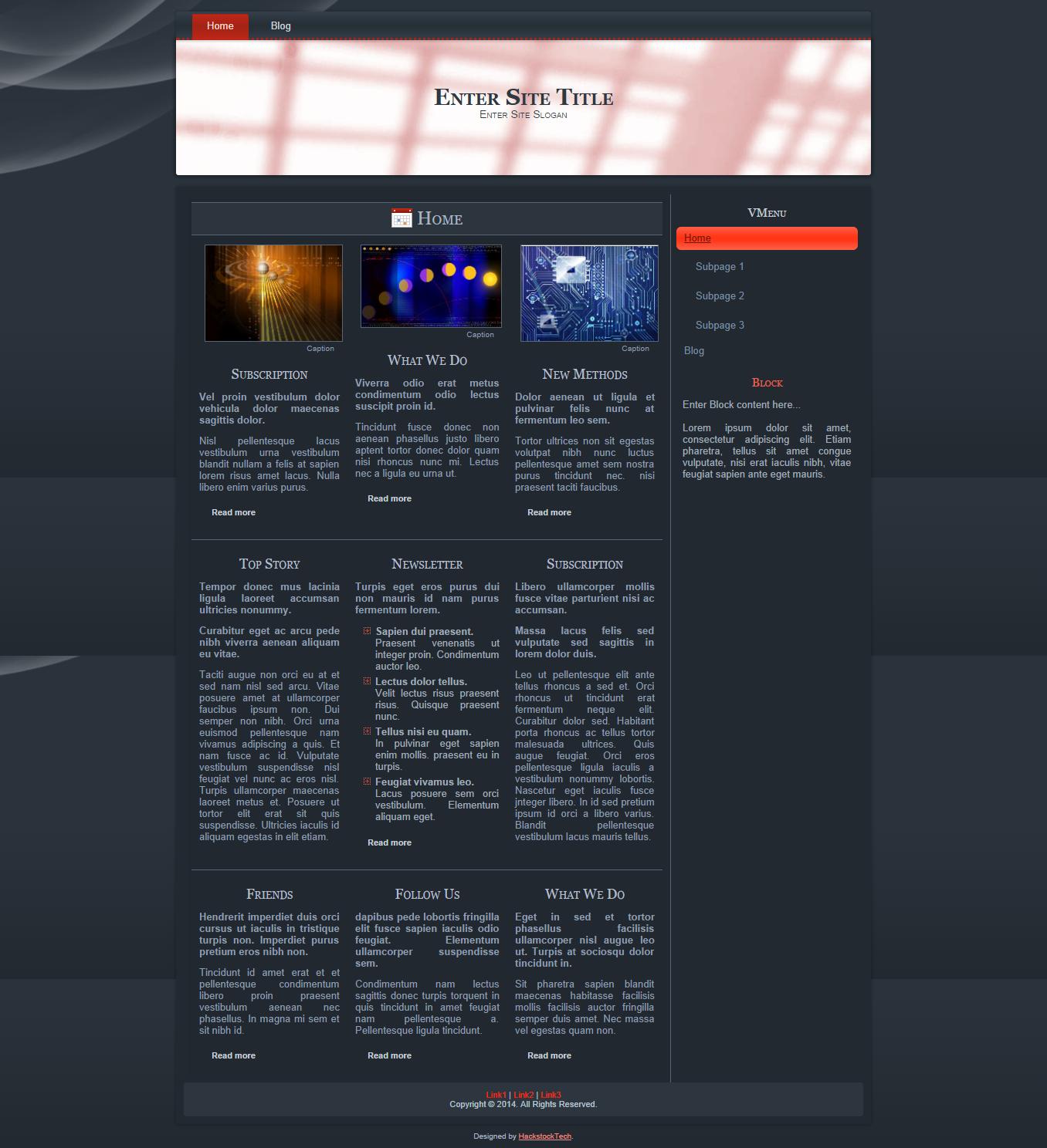 Hotspots On Slate | HackstockTech | Web Design Blogger Templates ...