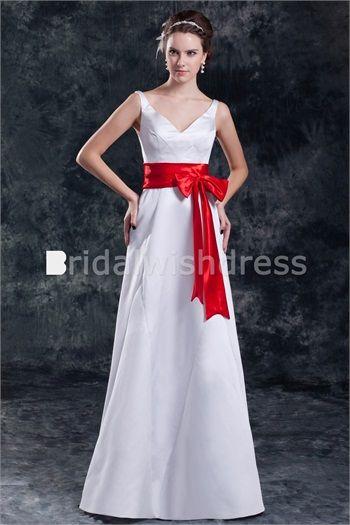 Graduation Floor-Length Satin V-neck Petite Special Occasion Dresses