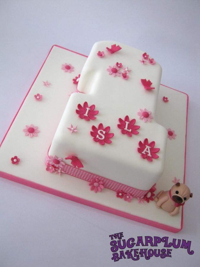 Pretty 1st Birthday Cake Cake By Sam Harrison Flowers Butterfly