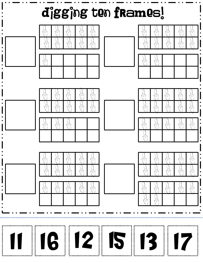Rowdy in Room 300 Hip hip horray A freebie and a giveaway – Ten Frame Worksheets
