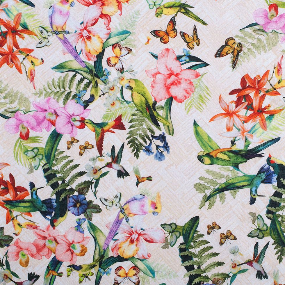 Tropical Digitally Printed Mercerized Cotton Woven