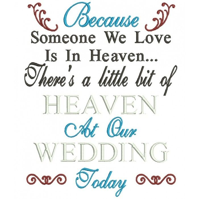 Download Because Someone We Love Is In Heaven Color Wedding Filled ...
