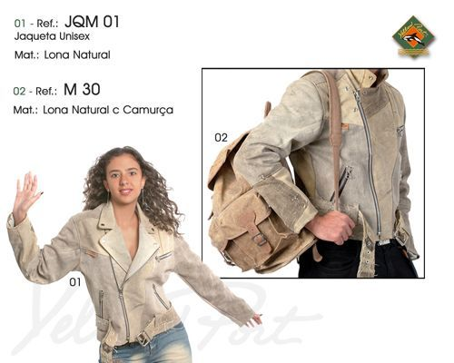 Recycled canvas biker jacket, made in Brazil