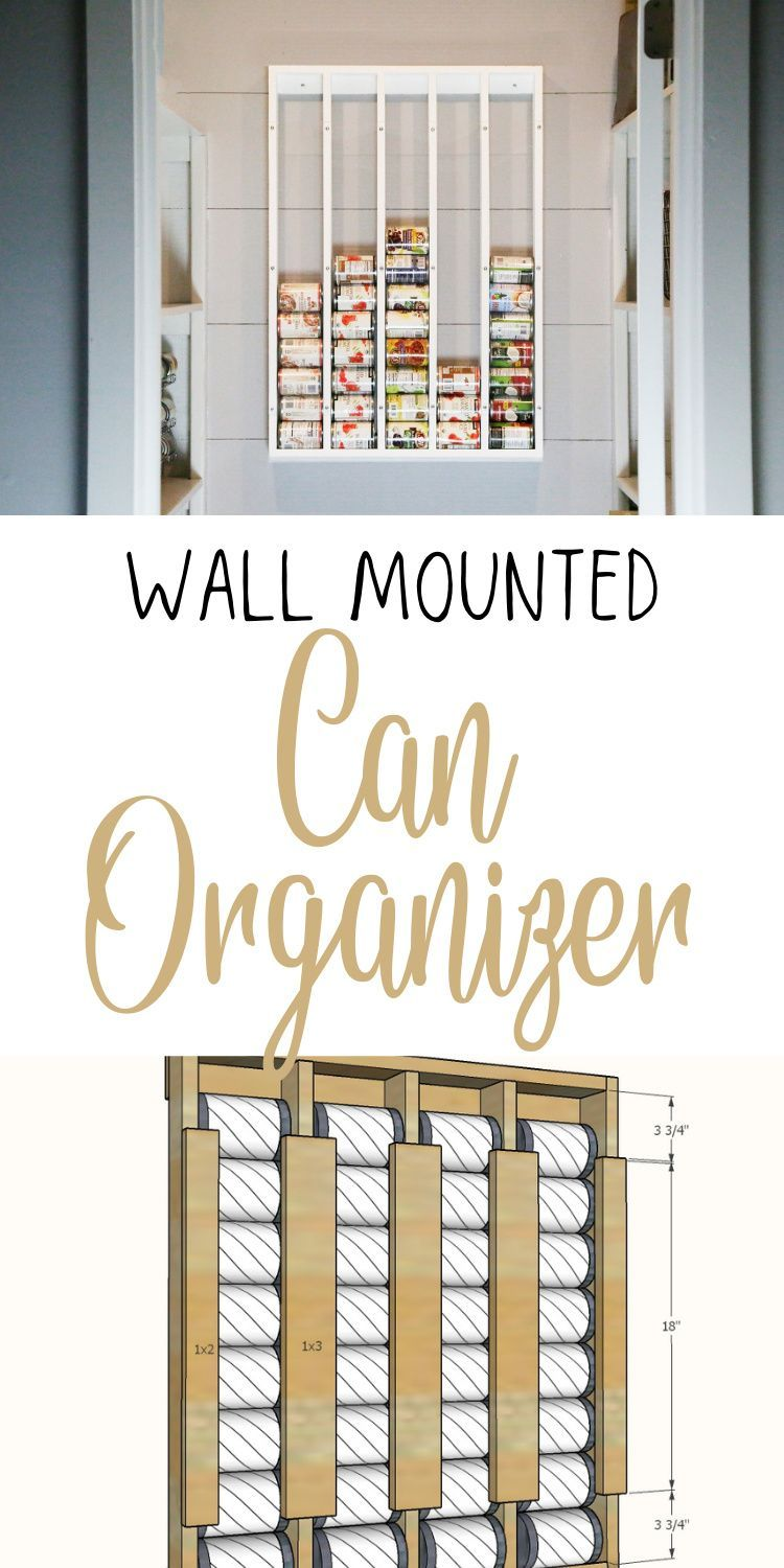 Wall Mounted Can Organizer | Ana White
