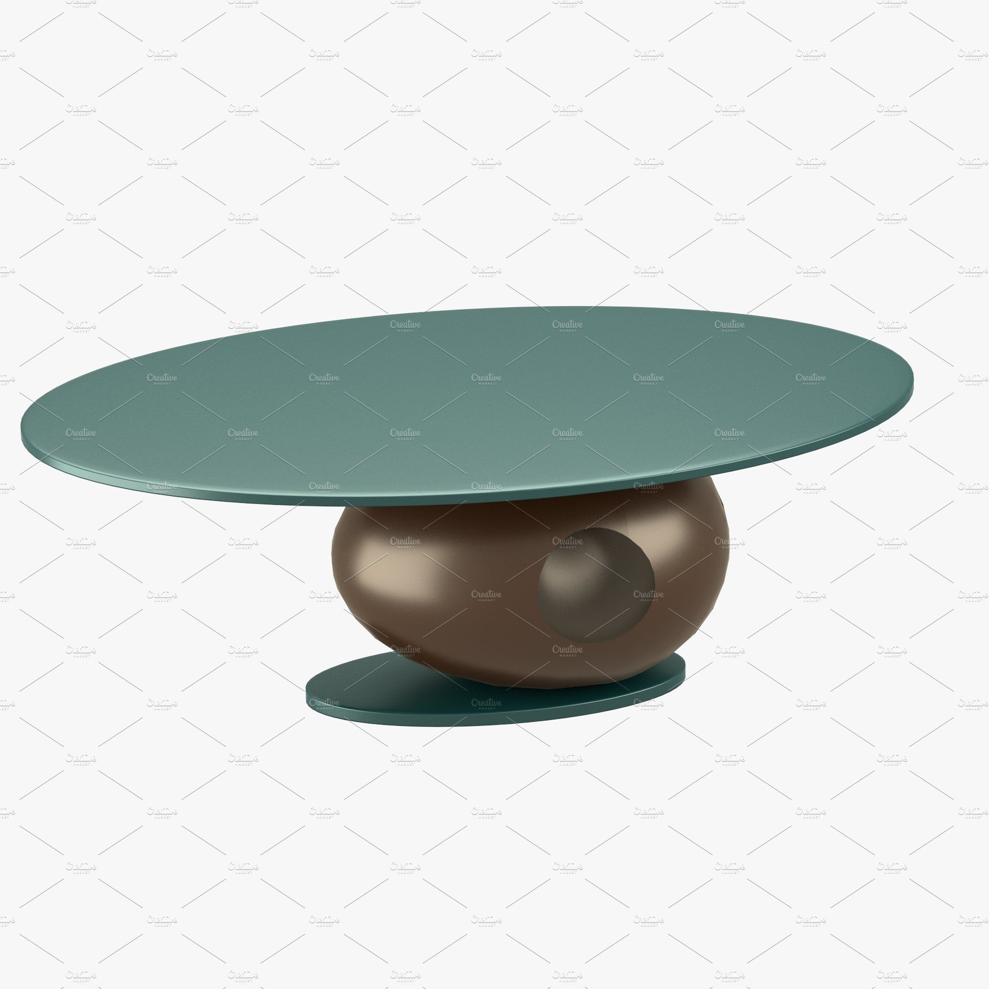 Modern table with round shaped stand ,
