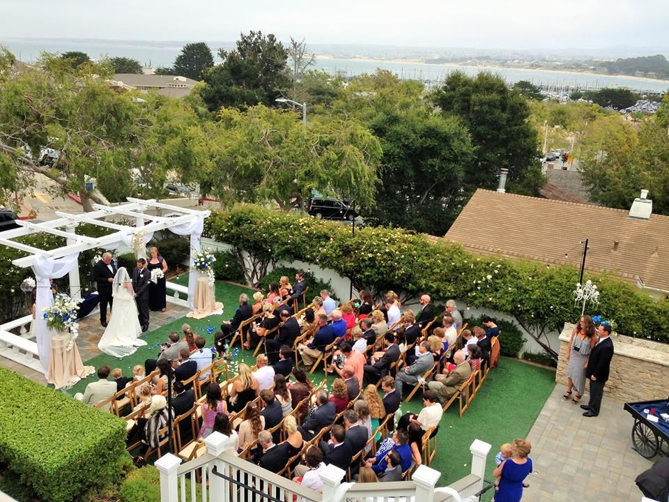 Gorgeous day for a wedding! Perry House in Monterey CA, http://eventsbyclassic.com