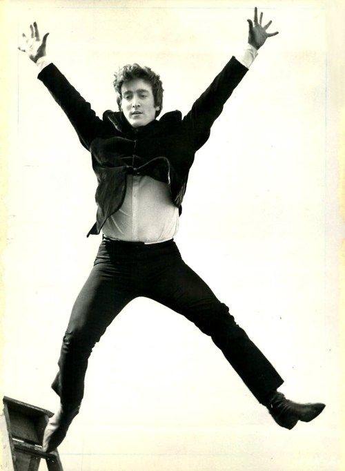 John Lennon (jumping during Hard Days Night!)