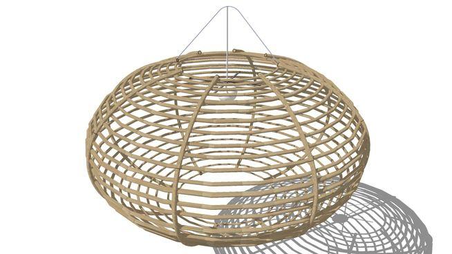 Large preview of 3D Model of Suspension, Maisons du monde ...