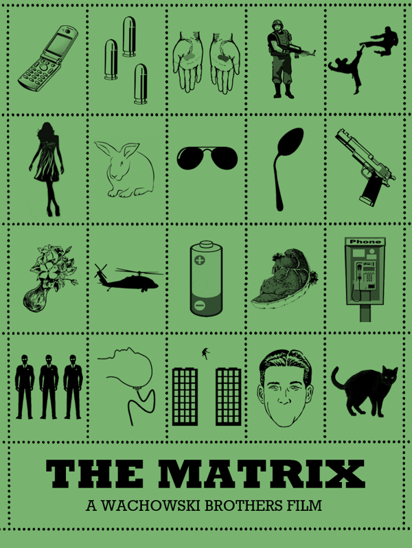 Iconic Film Posters: Telling stories in simplicity by Peter Stults, via Behance