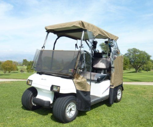 Yamaha Golf Cart Covers And Enclosures : Sided drivable golf cart enclosure with zippered door
