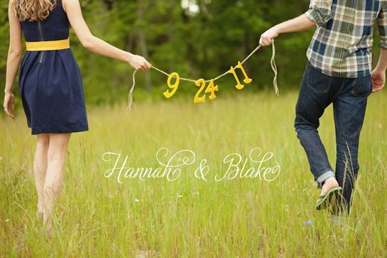 Cute Engagement shoot or save the date card idea Very relaxed cool idea