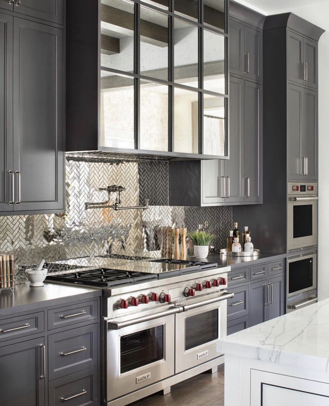 Dark Gray Cabinet Inspiration.