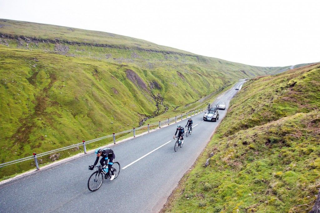 Tour de France in Yorkshire Gallery - Team Sky riding in the Yorkshire Dales #tourdefrance #legranddepart #letouryorkshire #letourholmfirth #yorkshire #cycling #tdf #holmfirth #sport