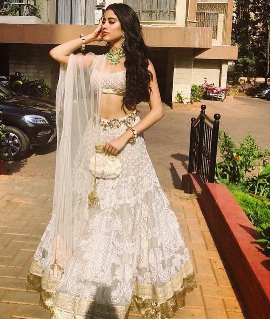 Janhvi Kapoor Looking Beautiful For Cousin Sonam S Mehendi Follow Instantbollywood For Latest Updates Indian Wedding Dress Indian Bridal Wear Indian Bridal