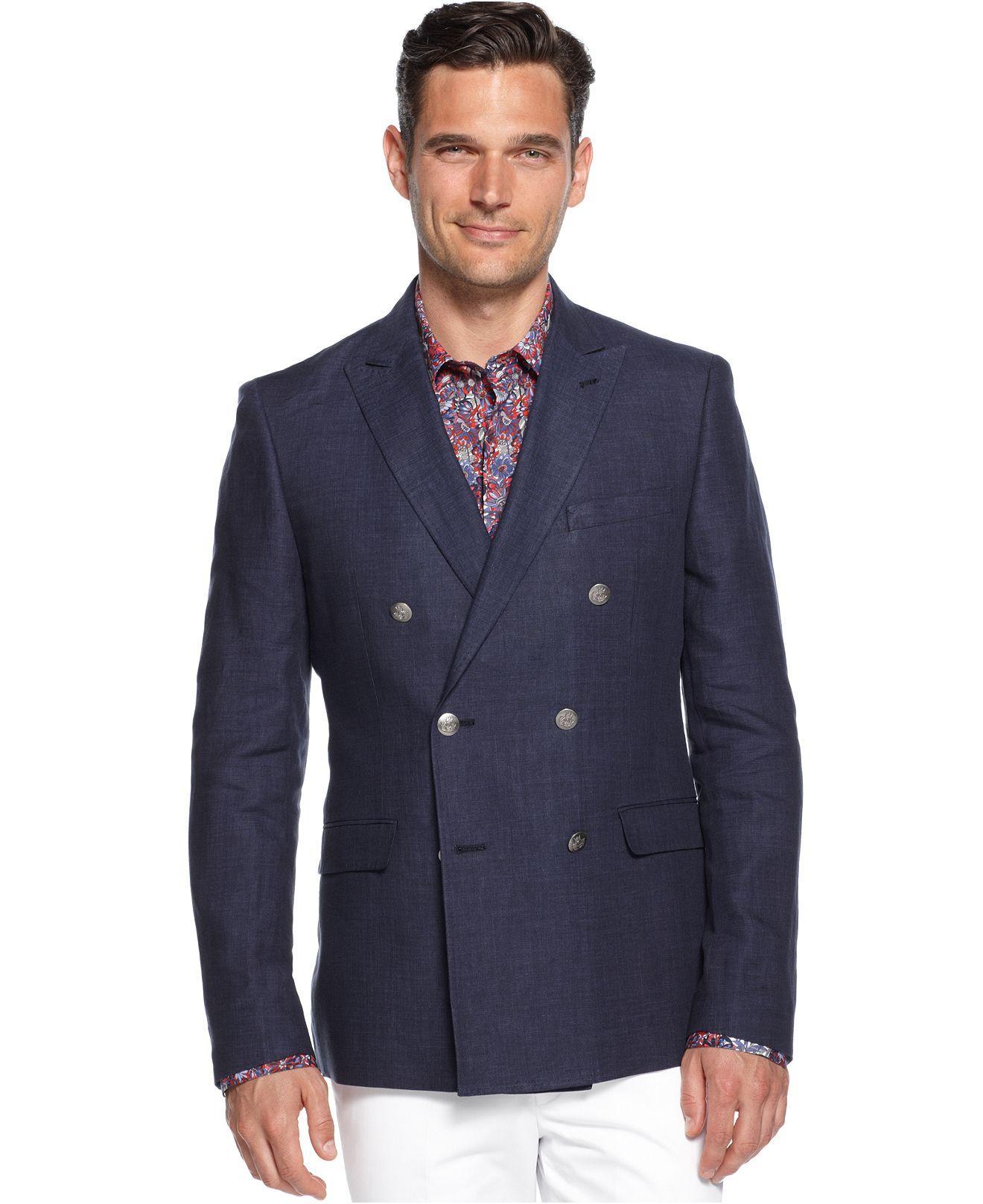Tallia Orange Jacket, Navy Double Breasted Blazer