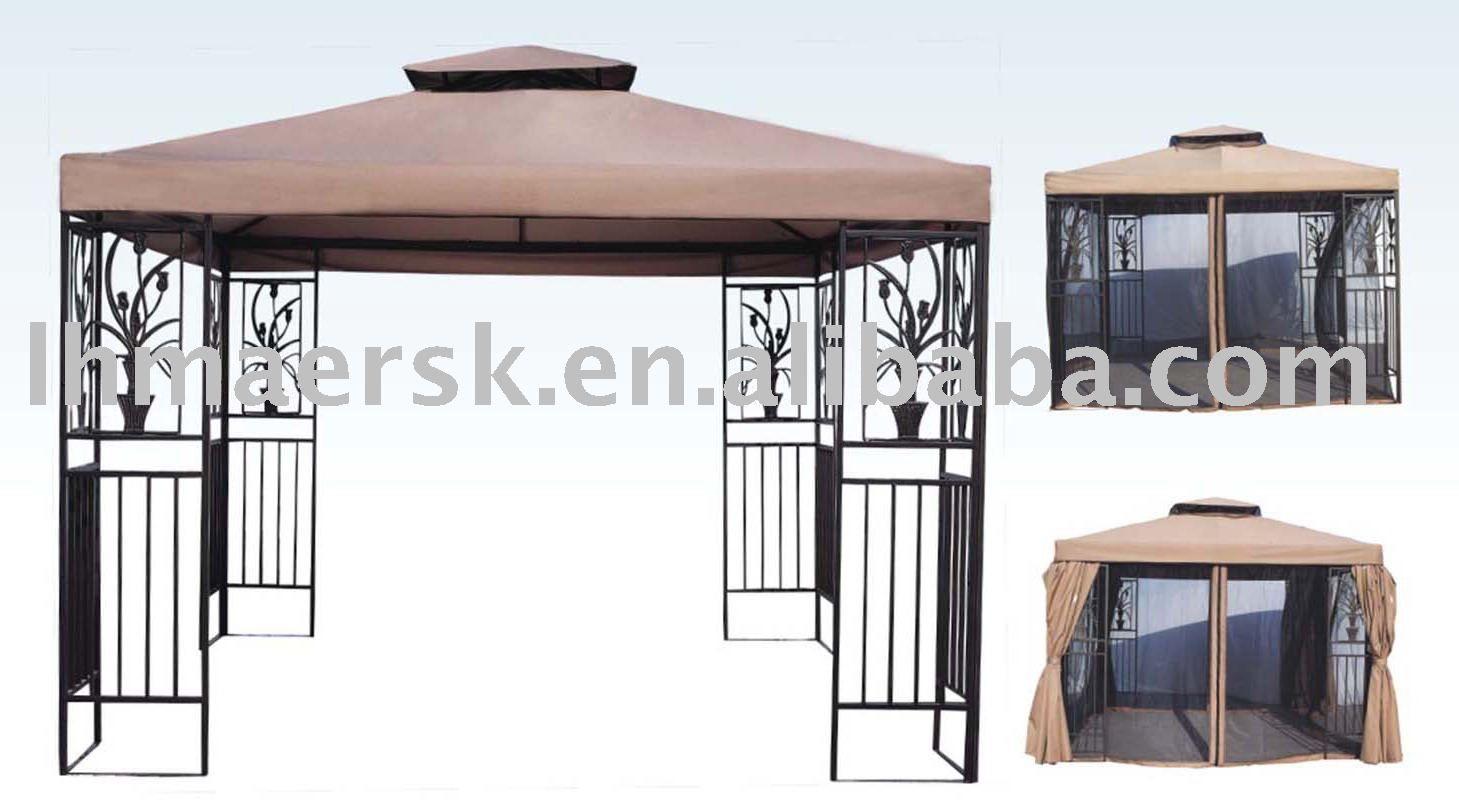 Double roof metal gazebo sg014   Metal Gazebos   Pinterest   Metal ...