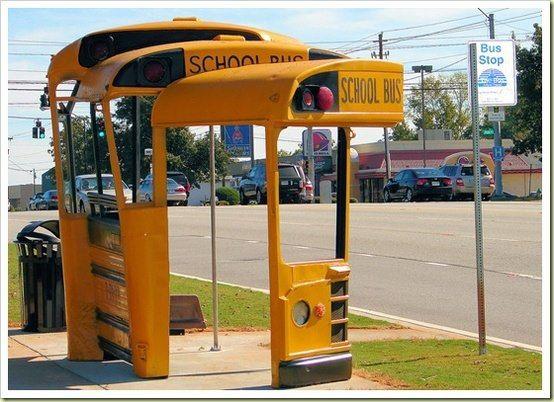 School Bus Stop Bus Stop School Bus Bus